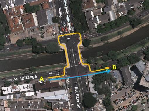 Para ir de A a B, qual caminho você escolheria? Para Casagrande, quem for pelo azul merece ser punido.